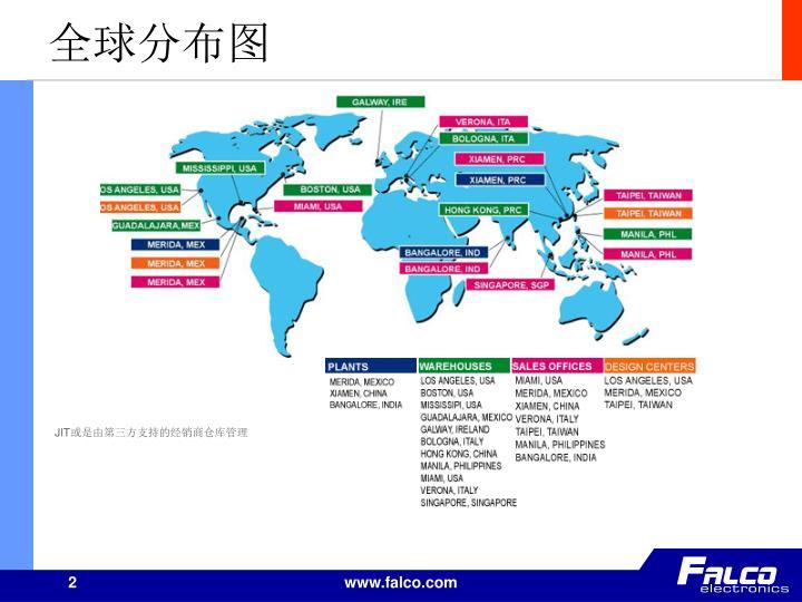 全球分布图