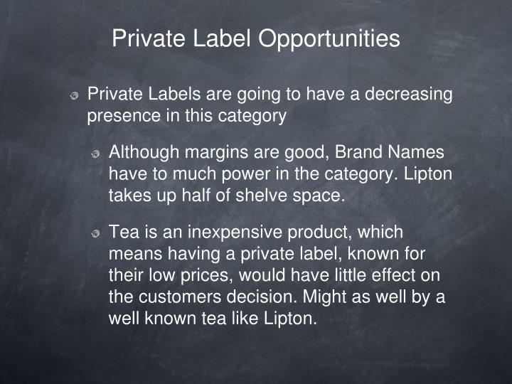 Private Label Opportunities