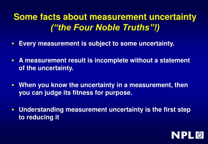 Some facts about measurement uncertainty