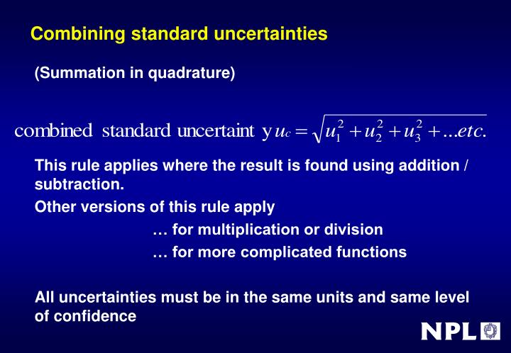 Combining standard uncertainties