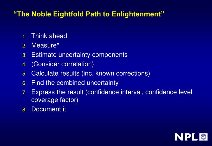 """The Noble Eightfold Path to Enlightenment"""