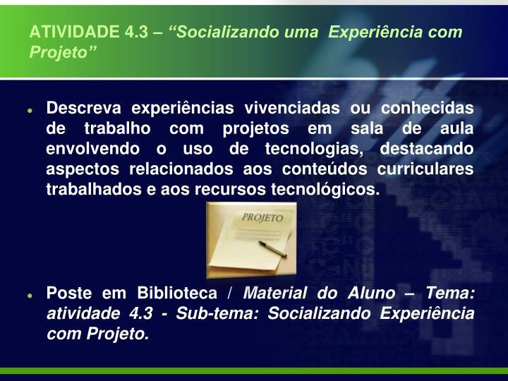 ATIVIDADE 4.3 –