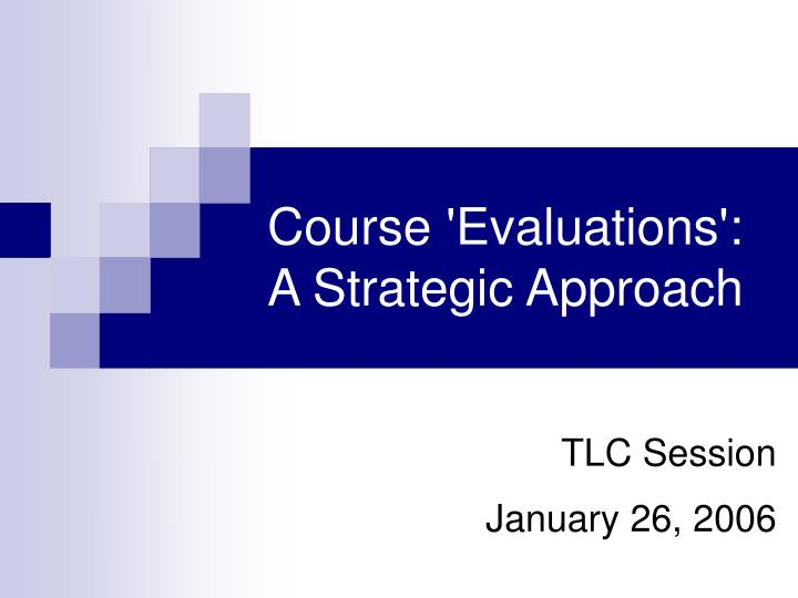 Course 'Evaluations':