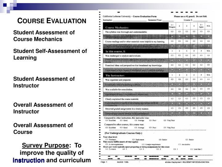 Student Assessment of
