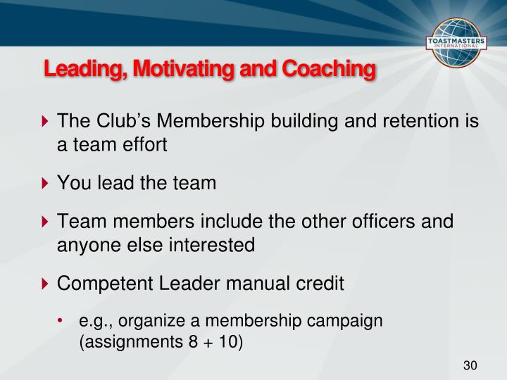 Leading, Motivating and Coaching