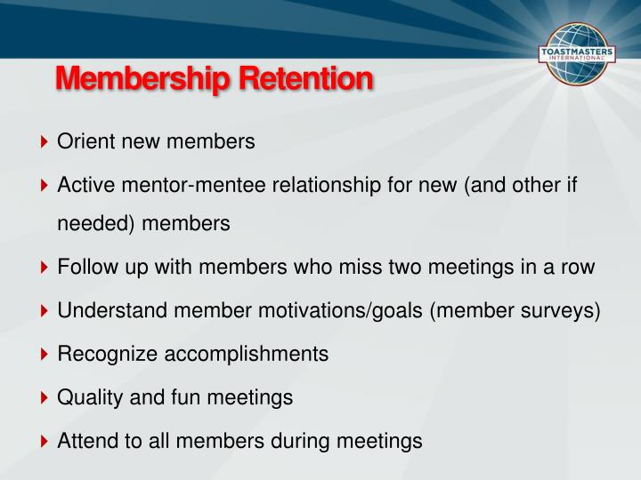 Membership Retention