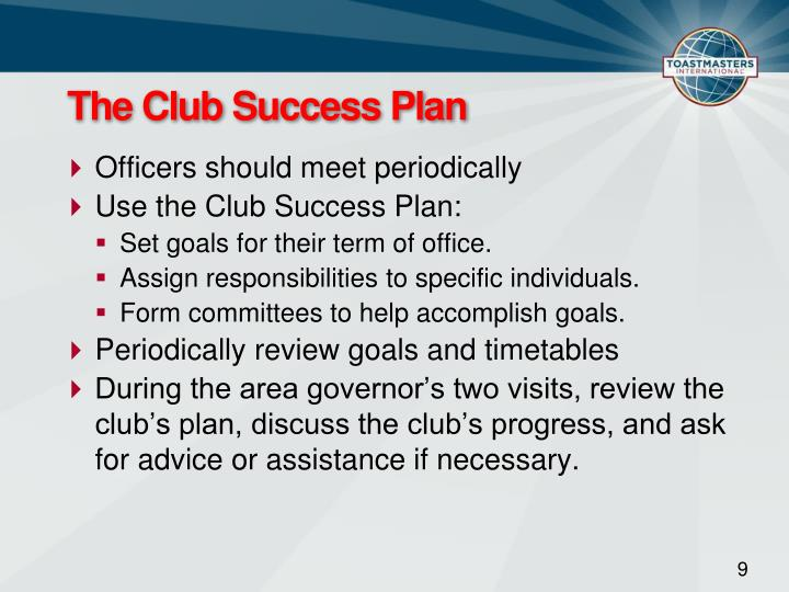 The Club Success Plan