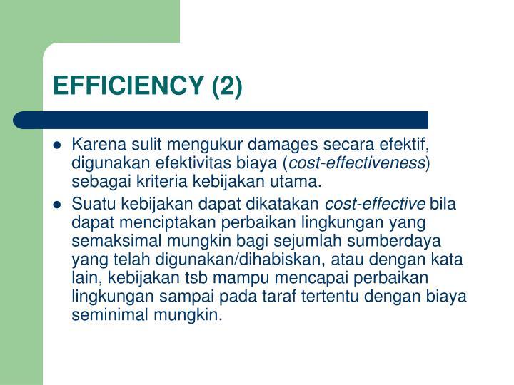 EFFICIENCY (2)