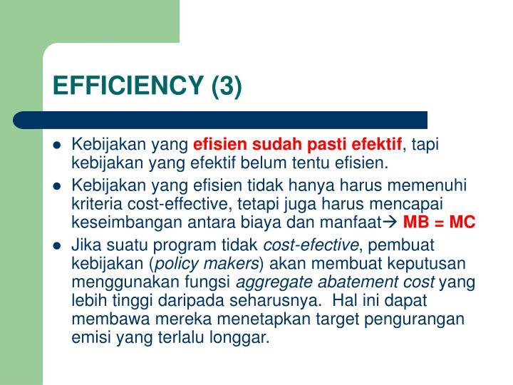 EFFICIENCY (3)