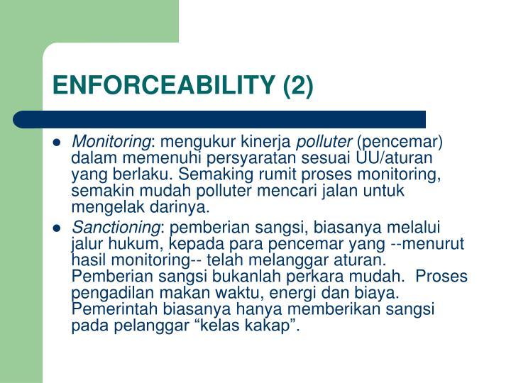 ENFORCEABILITY (2)