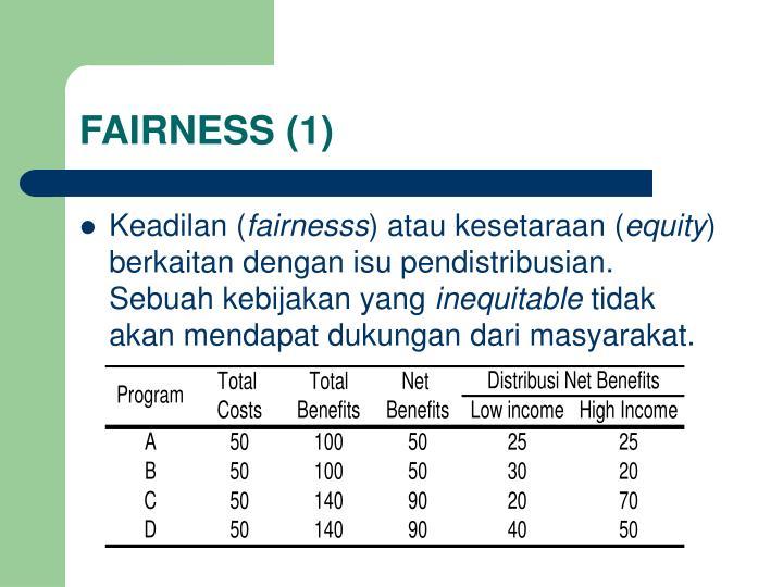 FAIRNESS (1)