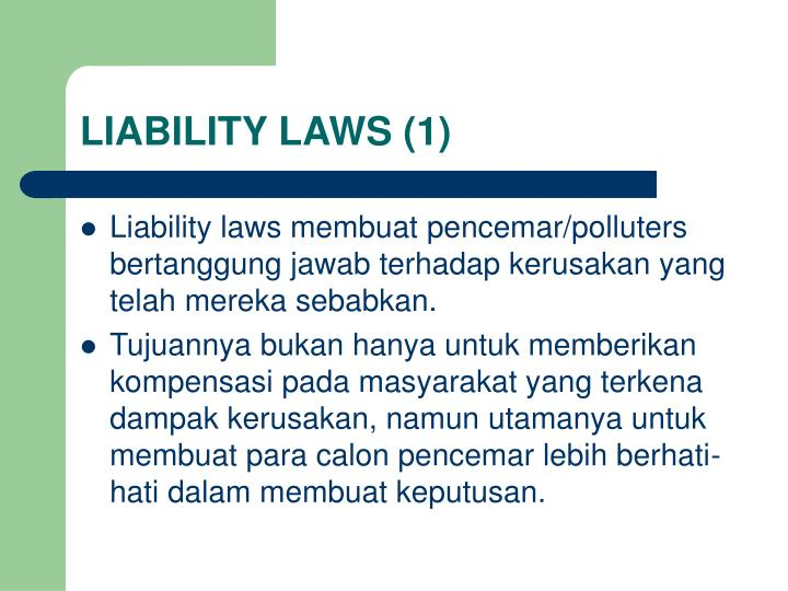 LIABILITY LAWS (1)