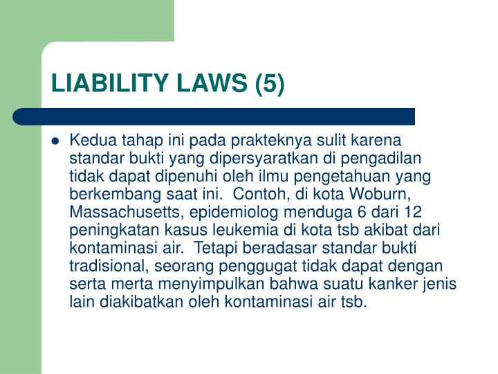 LIABILITY LAWS (5)