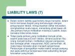 liability laws 7
