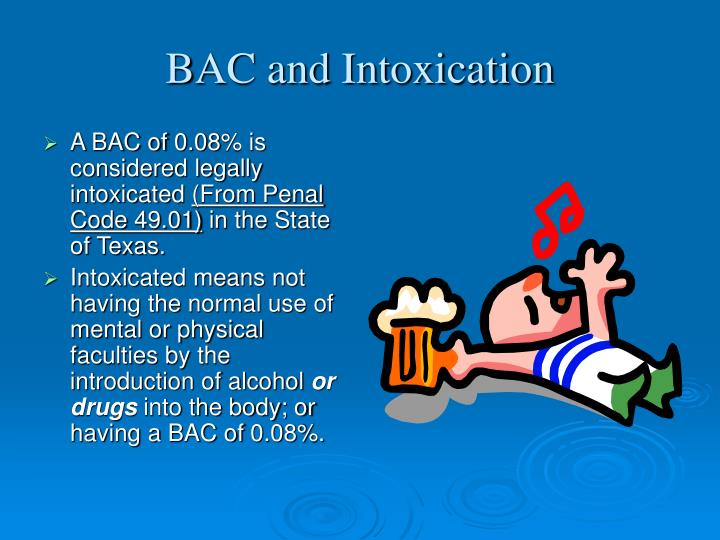 BAC and Intoxication