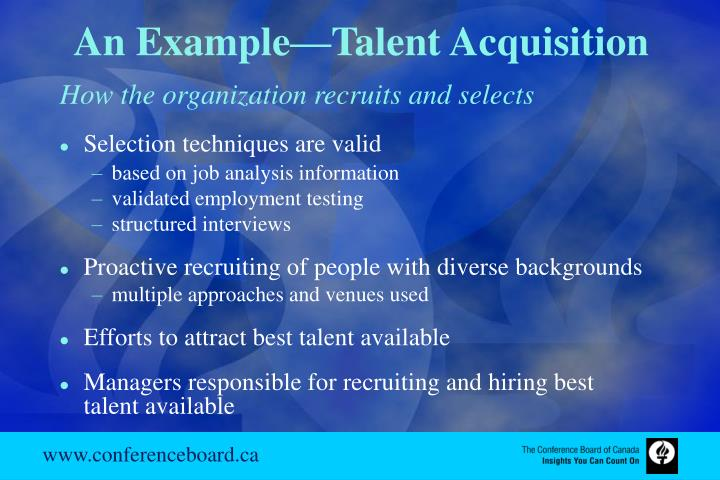 An Example—Talent Acquisition