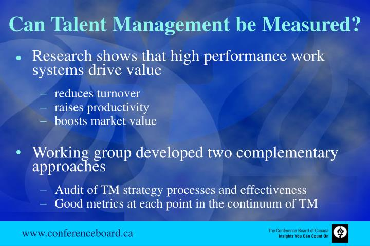 Can Talent Management be Measured?
