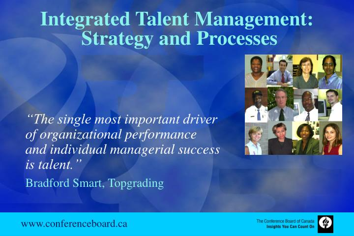 Integrated Talent Management: