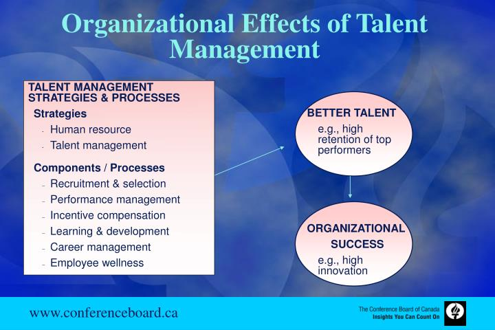 Organizational Effects of Talent Management