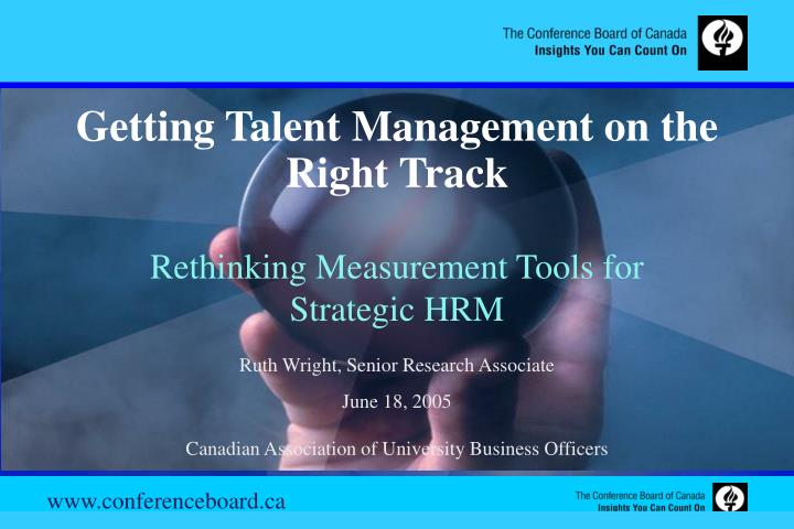Getting Talent Management on the Right Track