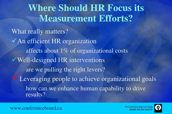 Where Should HR Focus its Measurement Efforts?