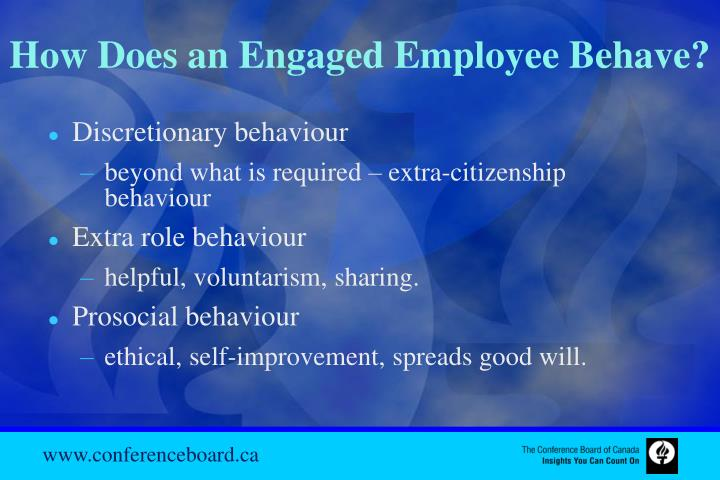 How Does an Engaged Employee Behave?