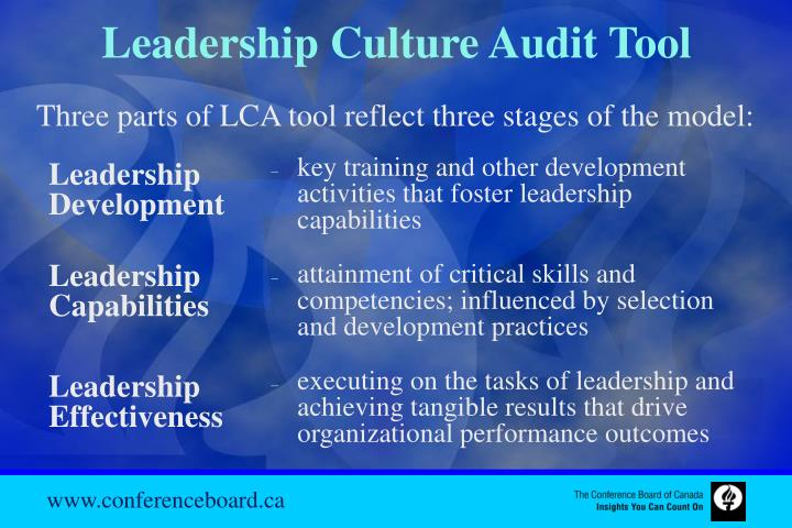 Leadership Culture Audit Tool