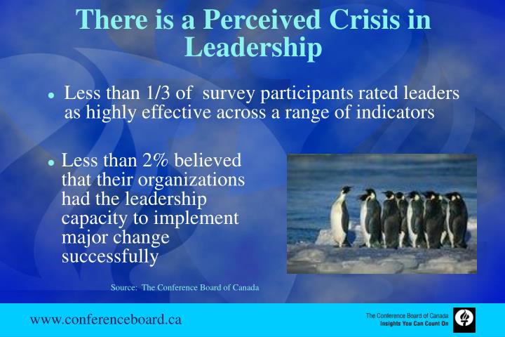 There is a Perceived Crisis in Leadership