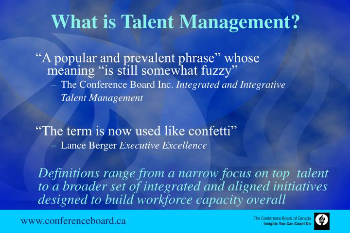 What is Talent Management?