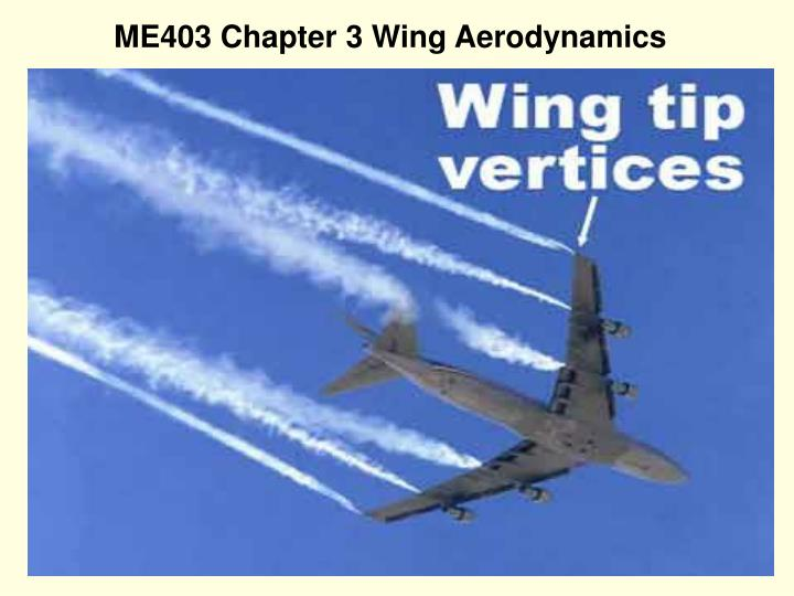 ME403 Chapter 3 Wing Aerodynamics
