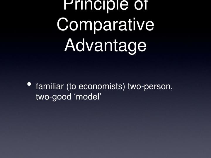 Principle of Comparative Advantage