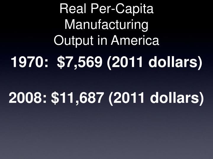 Real Per-Capita Manufacturing
