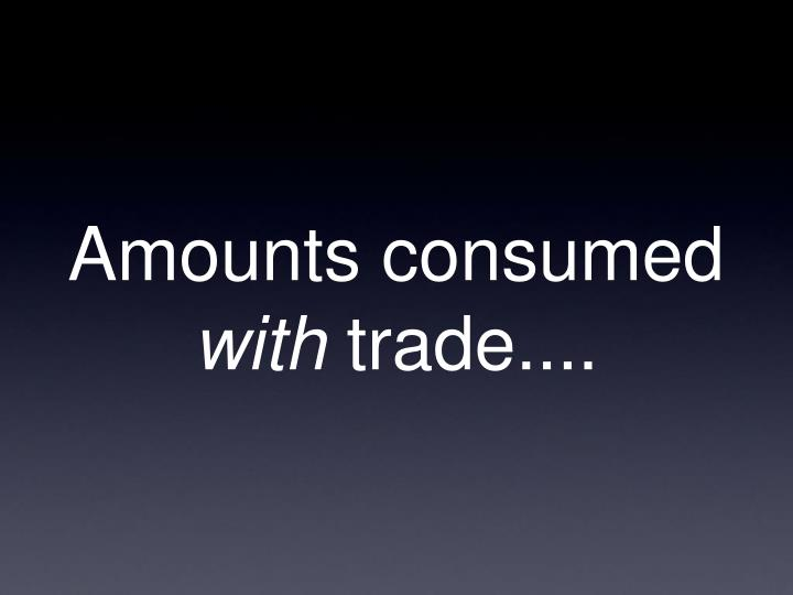 Amounts consumed