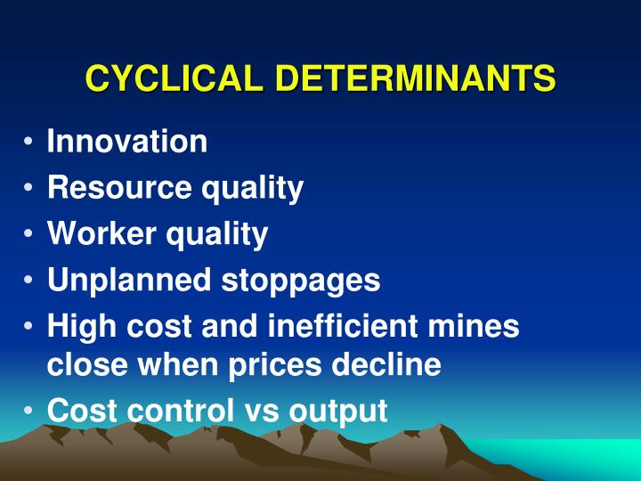CYCLICAL DETERMINANTS