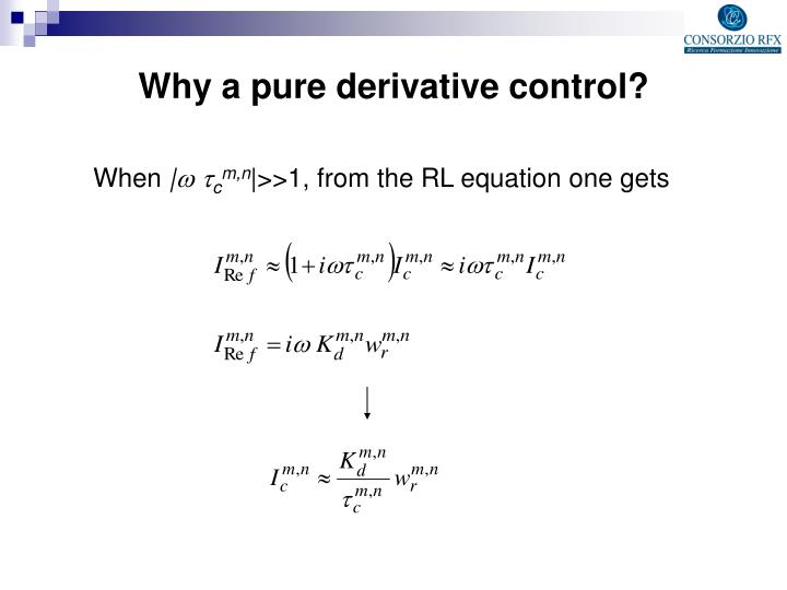 Why a pure derivative control?