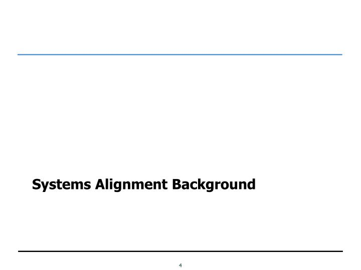 Systems Alignment Background