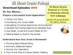 all about grants podcast