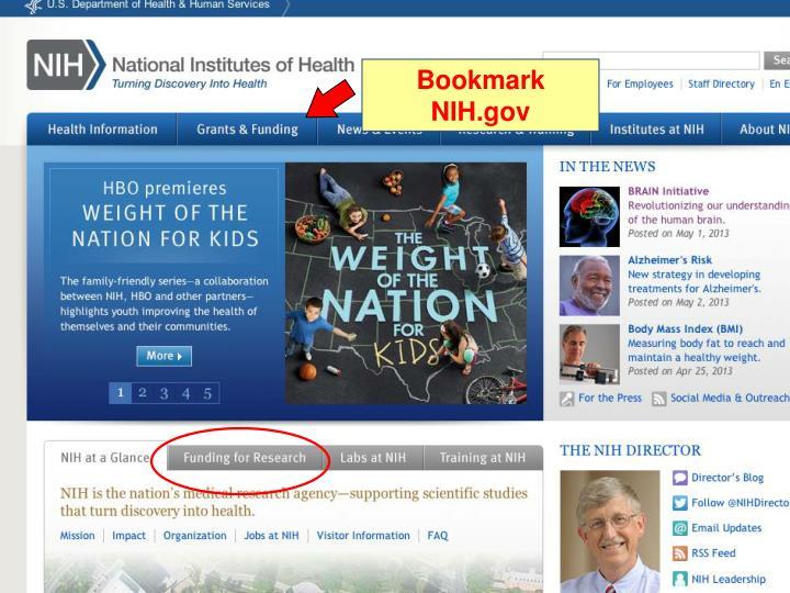 Bookmark NIH.gov