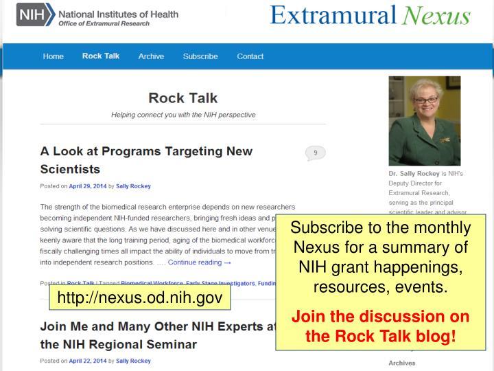 Extramural Nexus and Rock Talk Blog