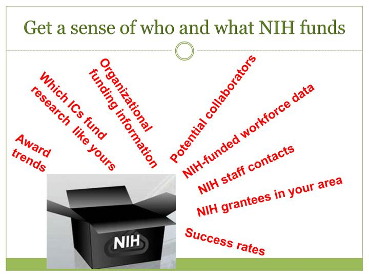 Get a sense of who and what NIH