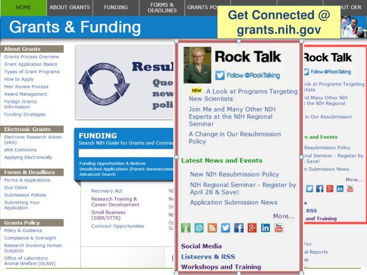 Get Connected @ grants.nih.gov