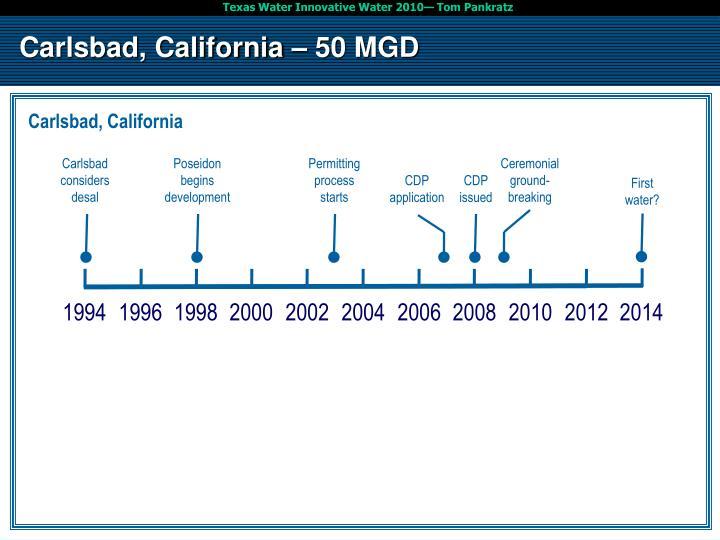 Carlsbad, California – 50 MGD