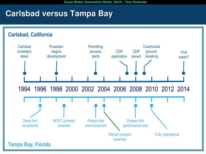 Carlsbad versus Tampa Bay