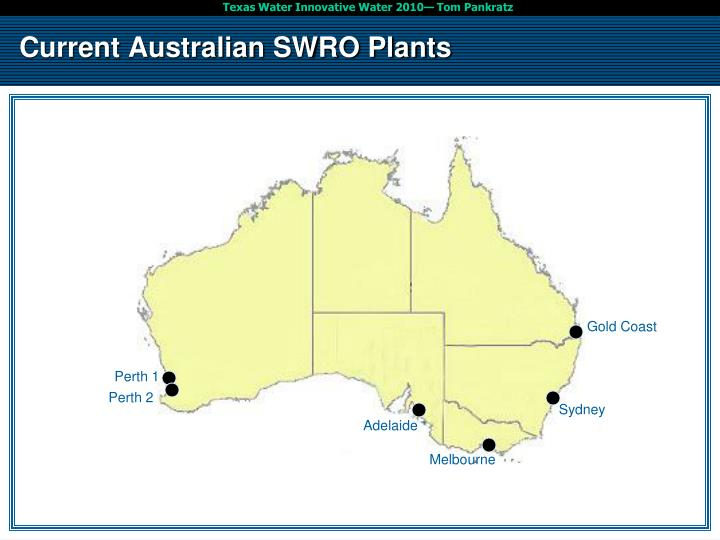 Current Australian SWRO Plants