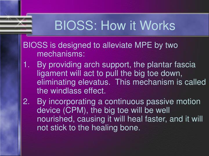 BIOSS: How it Works