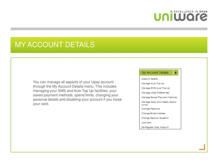 My account details
