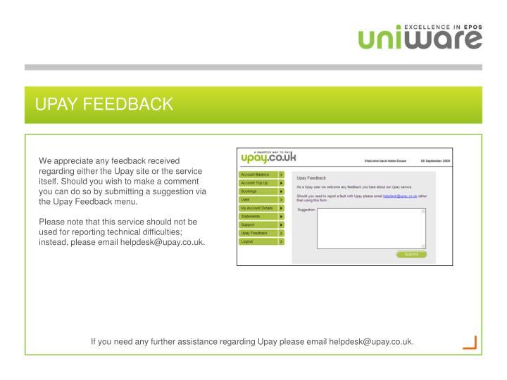 Upay feedback