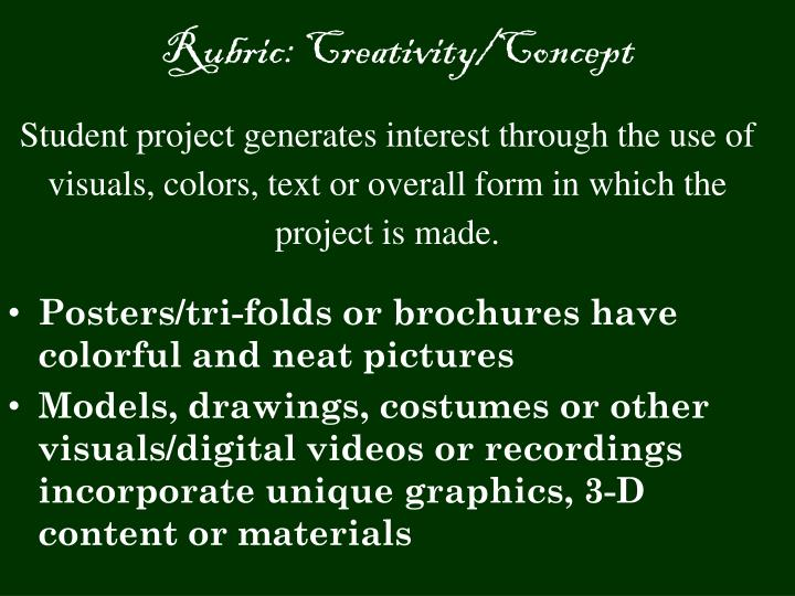 Rubric creativity concept