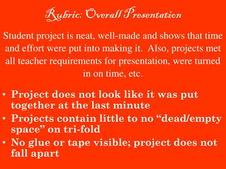 Rubric: Overall Presentation