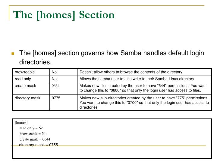 The [homes] Section